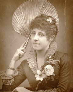 British Theatre Actress Florence Warden Old Woodburytype Photo Barraud 1885