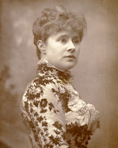 British Theatre Actress Alice Lingard Old Woodburytype Photo Barraud 1885