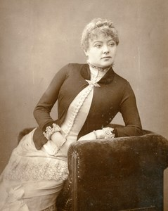 British Theatre Actress Kate Phillips Old Woodburytype Photo Barraud 1885