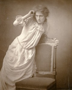 British Theatre Actress Florence West Old Woodburytype Photo Barraud 1885