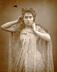 British Theatre Actress Eleanor Calhoun Old Woodburytype Photo Barraud 1885