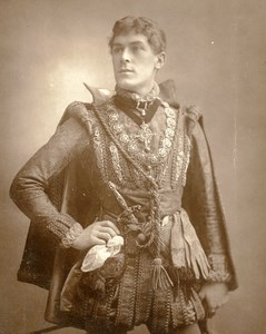 British Theatre Actor George Alexander Old Woodburytype Photo Falk 1885