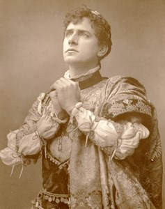 British Theatre Romeo Actor William Terriss Old Woodburytype Photo Barraud 1885