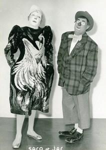 France Clown Saco & Jac Circus Cirque Artists Old Photo 1960