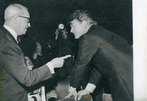 France Paris Olympia Maurice Chevalier Jean Marais at Sacha Show Old Photo 1965