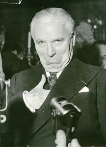 France Paris Actor Charlie Chaplin Charlot Old Photo 1955