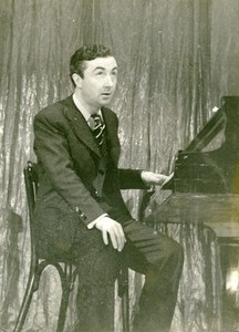 France Paris Actor Lucien Noel-Noel Piano Old Photo Gaston Paris 1940