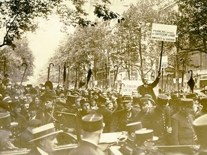 France Paris Protest French Disabled War Veterans WWI Old Photo 1934