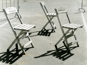 France Folding Chair Photographic Study Composition Old Photo 1970