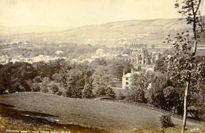 Scotland Melrose Abbey from Prior Bank Old Albumen Photo Wilson GWW 1875