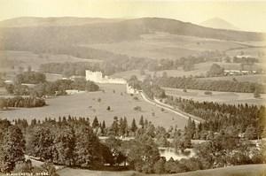 Scotland Blair Castle Panorama Old Albumen Photo Wilson GWW 1875