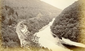 Scotland Killiecrankie Queen's View Railway Old Albumen Photo Wilson GWW 1875