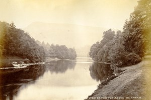 Scotland View on the Tay above Dunkeld Old Albumen Photo Valentine 1875