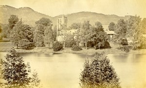 Scotland Dunkeld Cathedral from River Old Albumen Photo Wilson GWW 1875