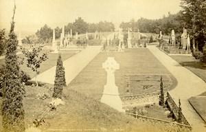 Scotland Tomnahurich Cemetery Inverness Old Albumen Photo Wilson GWW 1875