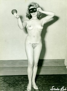 France Villeneuve le Roi Woman Nude Study Risque Old Photo Studio Bob 1950