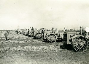 Italy Roma New Pavesi Tractors Agriculture Field Old Photo Luce 1930