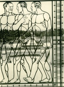 Norway near Oslo Frogner Park Art Deco Wrought Iron Nude Men Photo Caron 1936