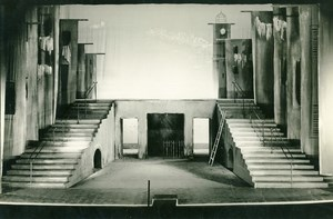 France Paris Empty Stage Ambigu-Comique Theater Old Photo 1950's