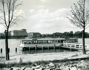 Germany Hamburg Floating Hotel Restaurant Shortage Post War Old Photo 1948