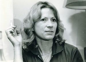 Belgium Film Cinema Actress Chris Lomme Old Photo Guyaux 1980's