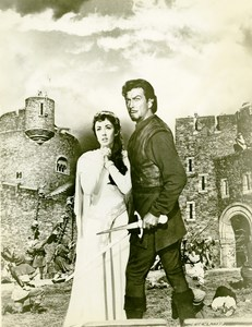 Ivanhoe Robert & Elizabeth Taylor Cinema Middle Ages Movie Still Old Photo 1952