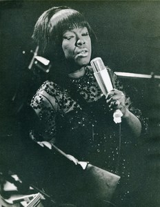 Belgium Brussels Jazz Singer Sarah Vaughan Old Photo 1979
