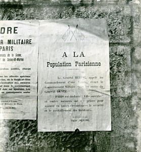 France Paris WWII Ville Ouverte Guerre Occupation Allemande Affiche Ancienne Photo Juin 1940