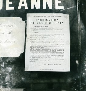 France Paris WWII Guerre Occupation Allemande Poster Rationnement du Pain Ancienne Photo 1940