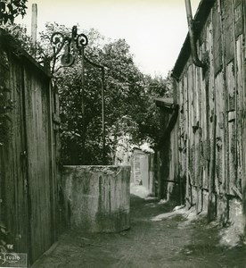 France Paris WWII Guerre Occupation Allemande Bidonville Porte d'Ivry Ancienne Photo 1942
