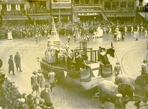 France Lille Great Historical Parade Char de Roubaix Old Photo Echo du Nord 1932