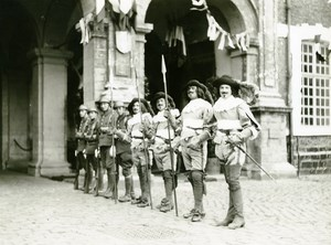 France Lille Great Historical Parade Guards Lancers Old Photo Echo du Nord 1932