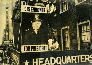 USA New York Eisenhower Electoral Campaign Old Press Photo 1947