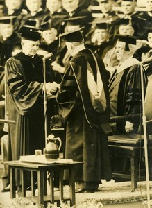 USA New York Columbia University President Eisenhower Old Press Photo 1948