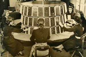 USA Huntington New Machine for Railways Train Booking Old Press Photo 1948