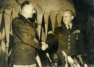 USA General Gruenther replaces General Ridgway at NATO Old Press Photo 1953