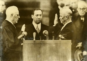 USA President Eisenhower second Presidency Swearing in Old Press Photo 1957