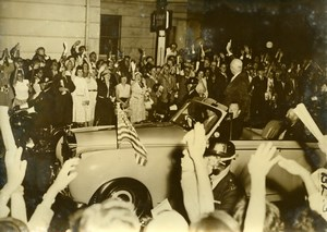 London President Eisenhower & British Prime Minister MacMillan Press Photo 1959