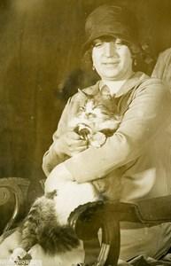 France Paris Salle Wagram Cat Fair First Price Titi Angora Old Press Photo 1927