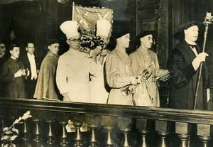 United Kingdom London Cutler Hall Banquet Boar's Head Old Press Photo 1936