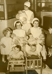 United Kingdom Dartford Nine babies have lost their Name Nurses Press Photo 1938