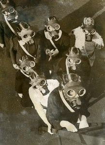United Kingdom London Civil Defence Women Gas Masks Old Press Photo 1938