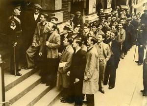 United Kingdom London Central Recruitment Office Old Press Photo 1939