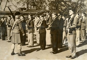 United Kingdom London Training Recruits Scottish Regiment Old Press Photo 1939