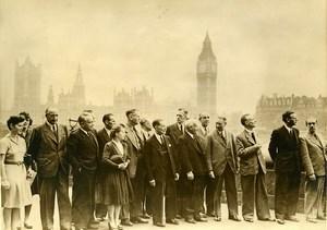 United Kingdom German Politicians Interpreters in London Old Press Photo 1947