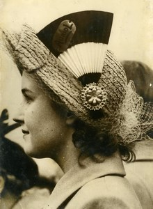 United Kingdom London President Auriol Visit Hat Fashion Old Press Photo 1950