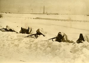 Netherlands WWII Military Maneuvers Infantry Winter Snow Old Press Photo 1940