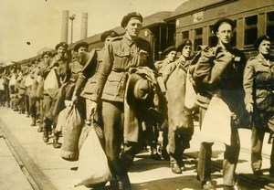 Australia WWII Volunteers Soldiers embarking for Europe Old Press Photo 1940