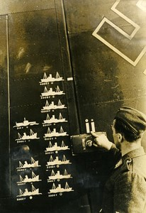 Germany WWII German Hit Board? Sunken Ships Old Press Photo 1941