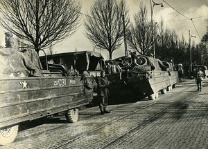 France Paris Construction of Boats Bridge French Overseas Fair Press Photo 1945